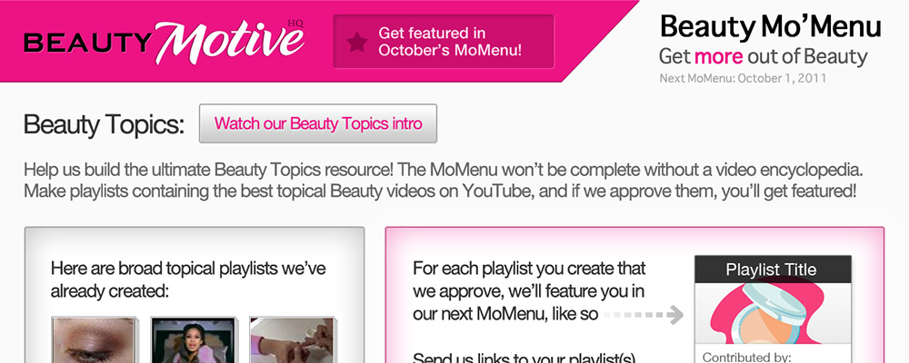 BeautyMotive MoMenu Topics