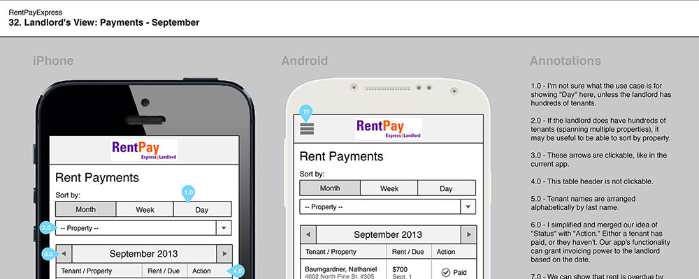 Rent Pay Express Mobile Wireframes 11